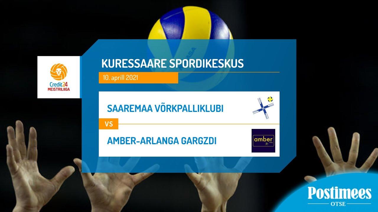 Saaremaa Võrkpalliklubi vs Amber-Arlanga Gargzdai - Credit24 Meistriliiga, 10.04.2021