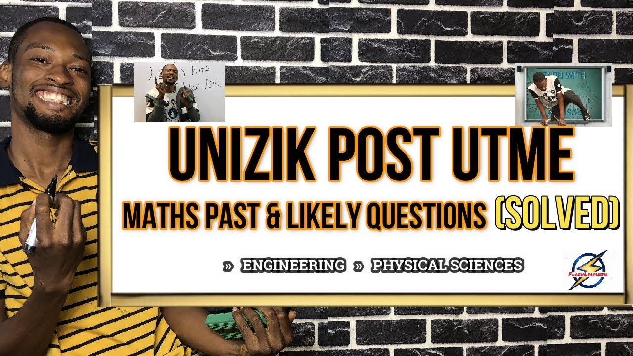 Download UNIZIK Post-UTME Mathematics Likely Questions For 2021