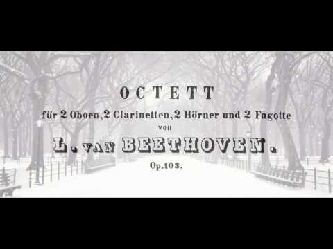 Beethoven - Octet for Woodwinds, Opus 103 with accompanying score