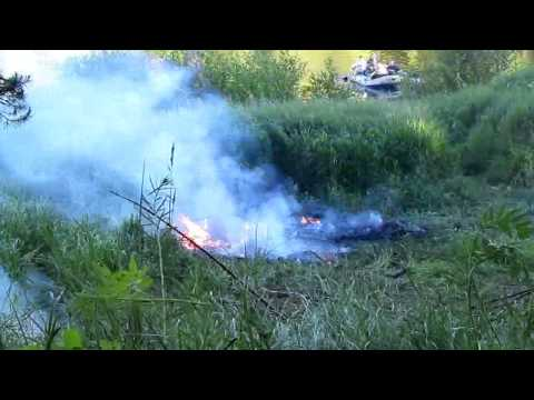 Взрыв баллона пропана 5 л - Propane tank explosion 5 L