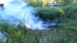 Взрыв баллона пропана 5 л - Propane tank explosion 5 L(, 2015-06-24T10:43:01.000Z)