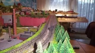 Spur N Modellbahn Fahrvideo Ludmilla mit Interregio / BR 155 DR mit Kesselzug