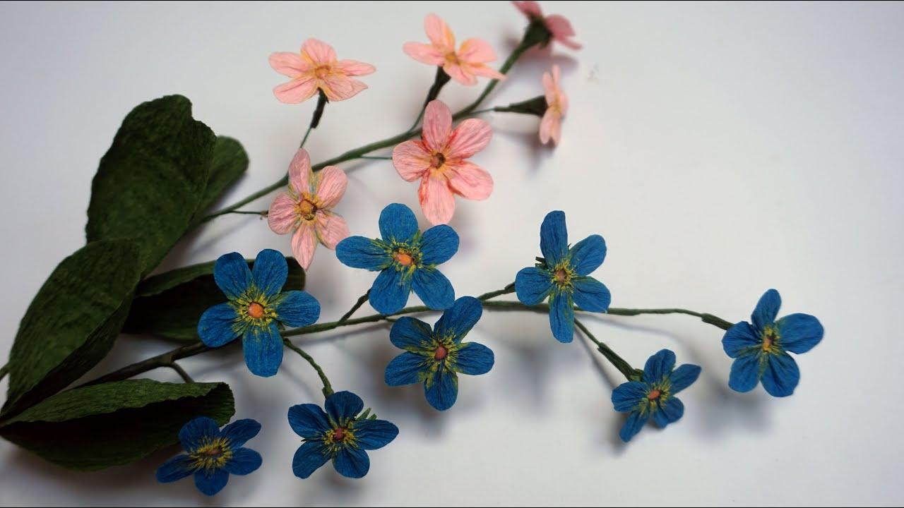 Como hacer FLORES DE PAPEL fáciles/Flor de papel crepe