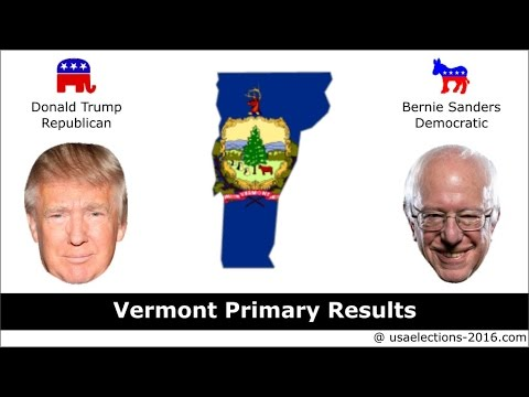 Vermont Primary Result 2016 : US Election 2016
