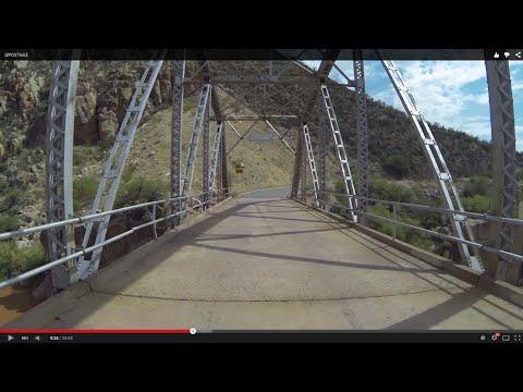Narrow Bridge on AZ SR 288 toward Young, Arizona, 17 July 2015, Rear View, GP037663