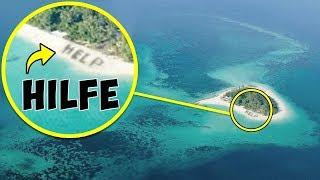 Dank dieses Fotos aus einem Flugzeug wurden Menschen auf einer Insel mitten im Ozean gerettet!