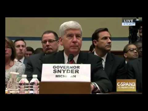 Elijah Cummings DESTROYS  Michigan Governor Snyder At Flint Water Contamination Hearing