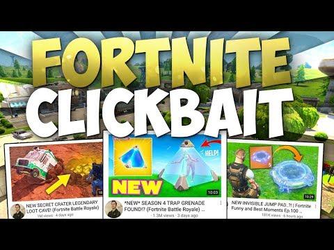 Fortnite Clickbait: Fake & Stolen Fortnite Content