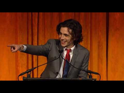 NBR Gala 2018 - Timothée Chalamet (Breakthrough Performance) Acceptance Speech