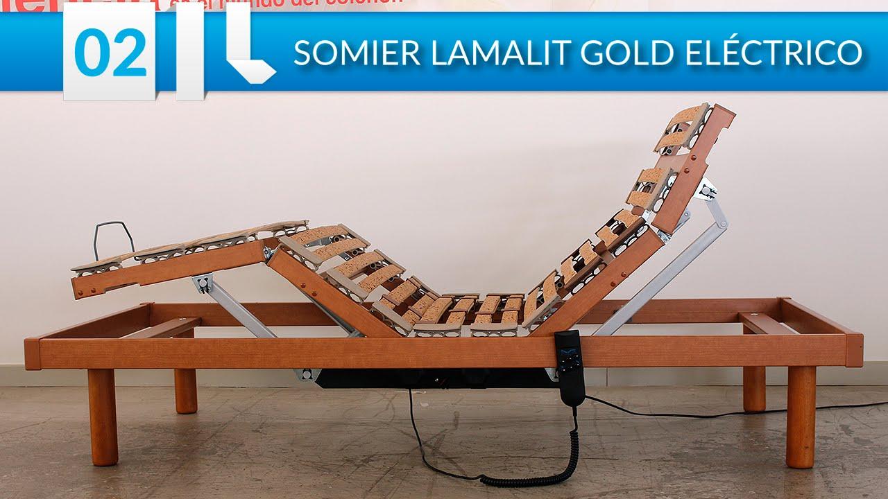 Somier articulado Lamalit Gold Eléctrico   YouTube