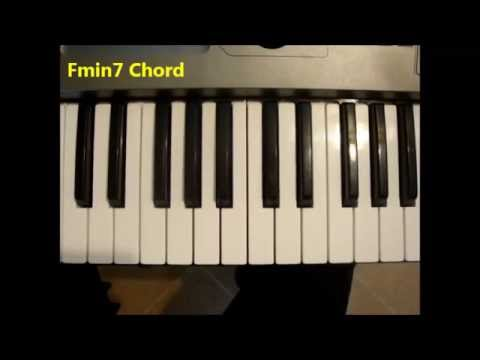 How To Play Fmin7 Chord Fm7 F Minor Seven On Piano Keyboard