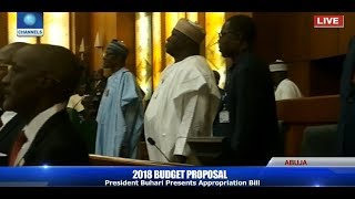 President Buhari Arrives NASS For 2018 Budget Presentation