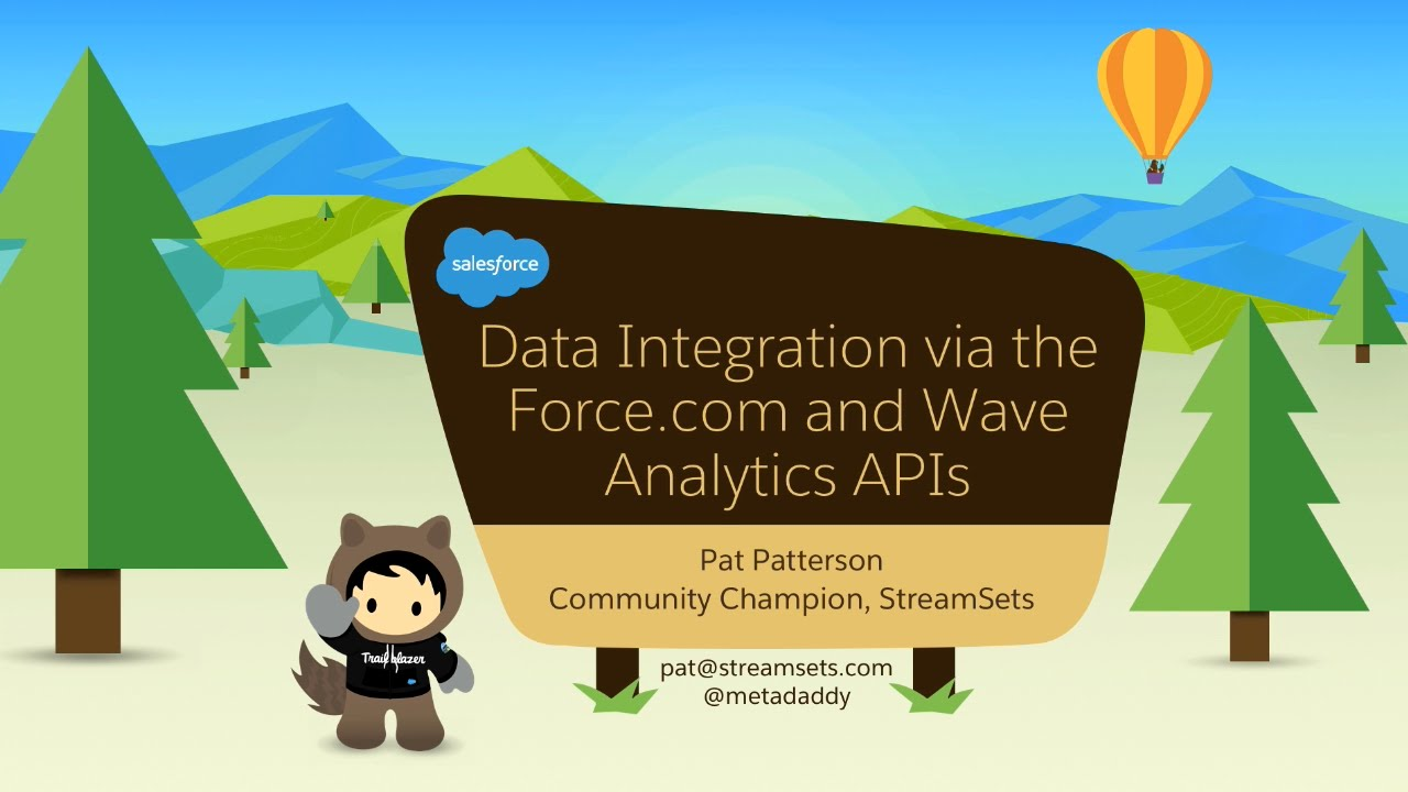 Data Integration via the Force com and Wave Analytics APIs