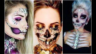 Calavera Sexy | Skull Glam 💀TOP INCREÍBLES MAQUILLAJES 💀💀 Best Halloween Makeup #4