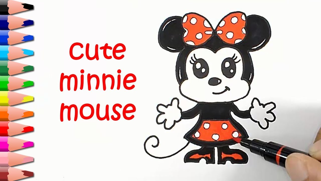Easy Drawing Tutorials Minnie Mouse