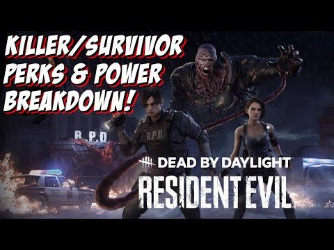 DBD RESIDENT EVIL KILLER AND SURVIVOR PERKS/POWER