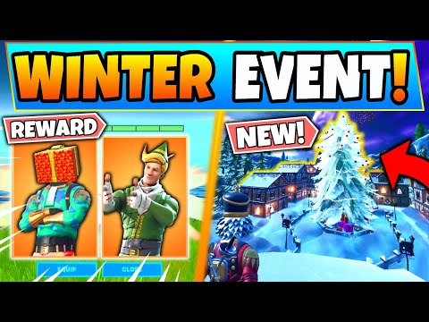 Fortnite CHRISTMAS EVENT *NEW* LEAKS, SKINS, And INFO! Rewards & Map Changes! (Battle Royale Update)
