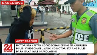 MOTORISTA NA GINANTIHAN NG PANG VI-VIDEO NG PULIS NAIYAK!