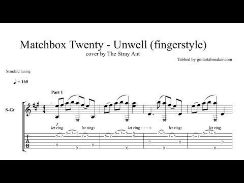 Matchbox Twenty Unwell Tab Fingerstyle Guitar Tab Pdf Guitar