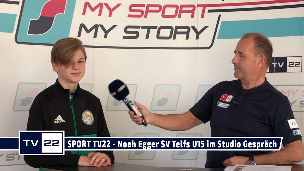 SPORT TV22: Noah Egger SV Telfs U15 im Studio Gespräch
