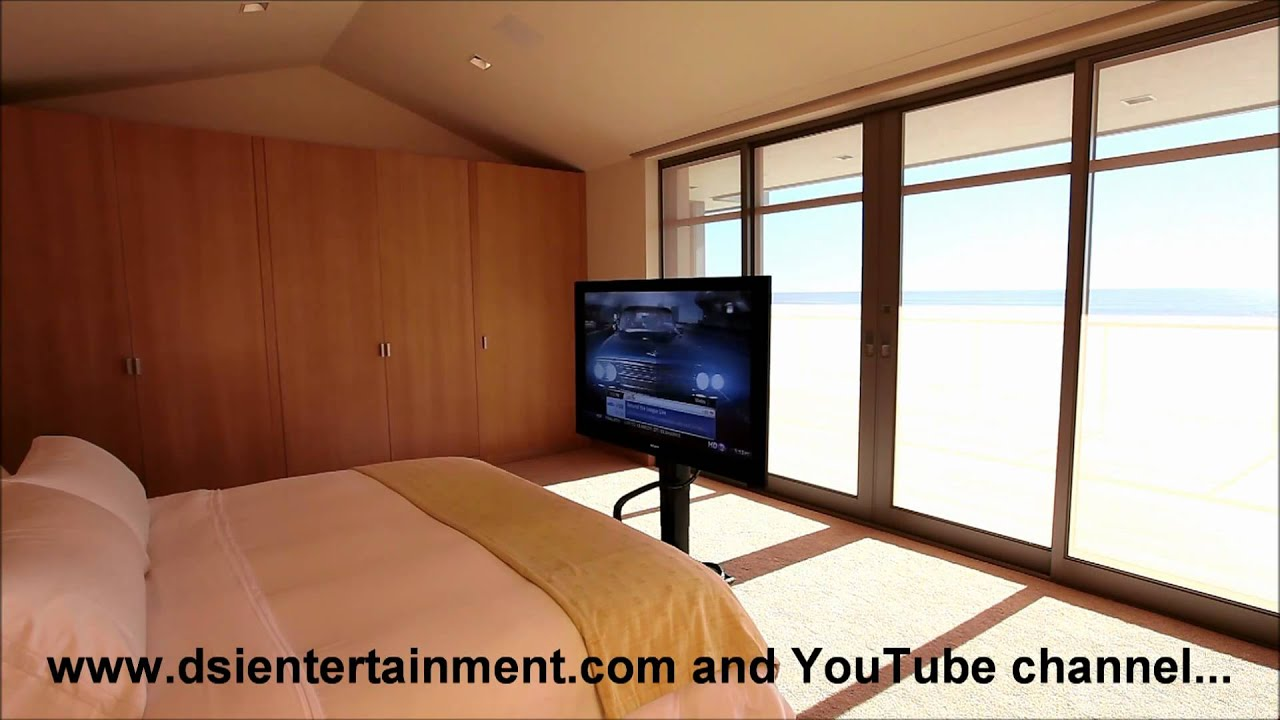 motorized under bed tv lift installation by dsi youtube. Black Bedroom Furniture Sets. Home Design Ideas