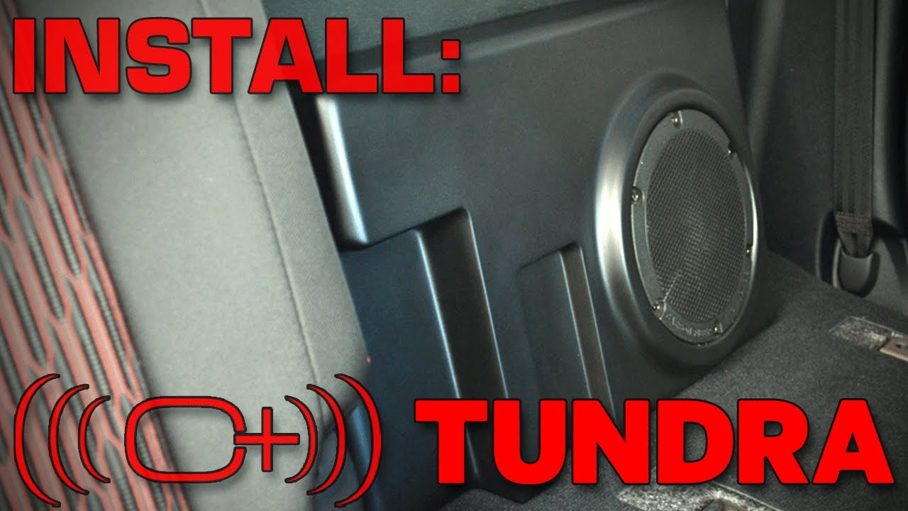 hight resolution of toyota tundra crewmax complete sound solution installation