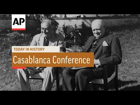 WWII: Casablanca Conference - 1943 | Today in History | 14 Jan 17