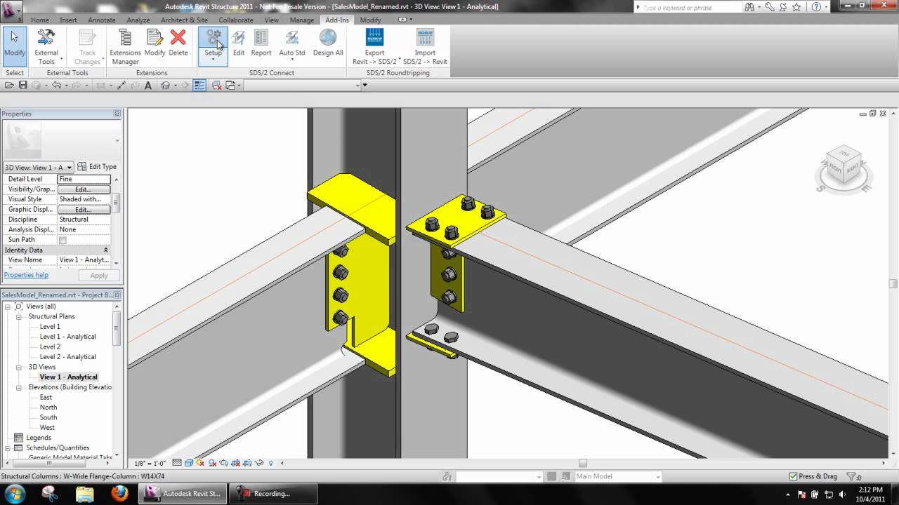 Automatic Load Calculation In Revit Structure With Sds 2