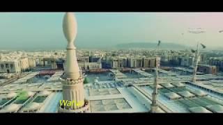Shalawat Nabi - Isyfa' Lana + Lirik dan Arti (Beautiful Drone Footage of Masjid an Nabawi)