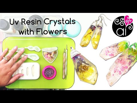 Tutorial UV Resin Crystals with Dried Flowers