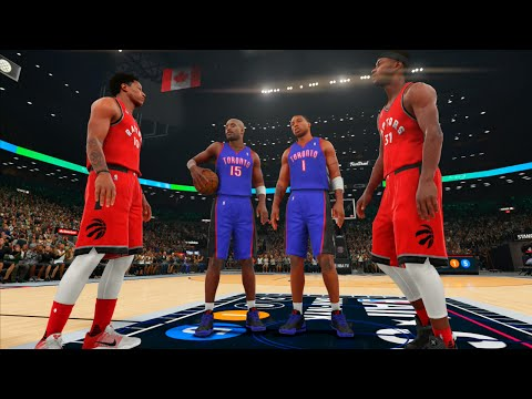 NBA 2K16: All Toronto Raptors Dunk Contest! Carter, McGrady, DeRozan, Ross! #nbaallstarto [PS4]