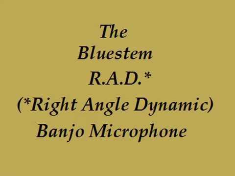 Dynamic right angle banjo microphone demo