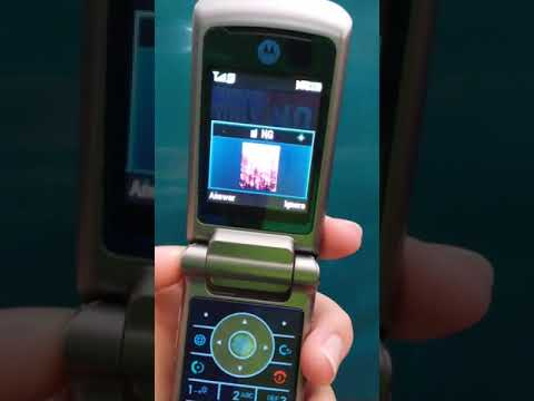 Motorola Krzr K1 Incoming Call (Picture ID)