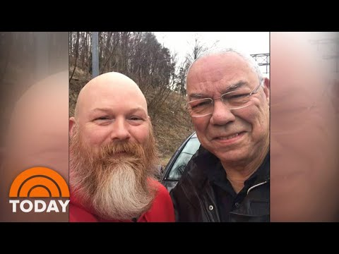 Colin Powell Gets Roadside Assistance From War Amputee | TODAY