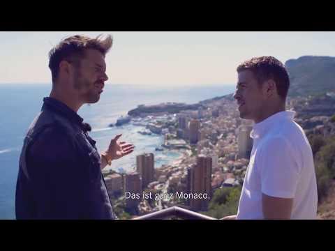 Thore Schölermann and Paul Di Resta cruise through the streets of Monaco