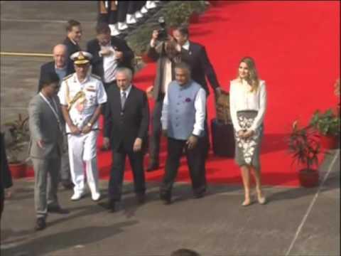 Brazil's President Temer arrives in Goa for BRICS summit