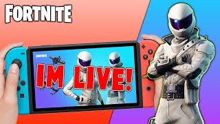 Pro Fortnite Nintendo Switch Player // Pro solo Matches // Wins Unknown // First Stream + Tips!!