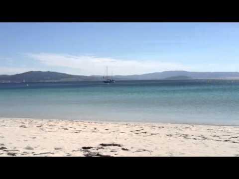 barra beach, vigo bay, galicia, spain