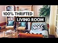 Boho Living Room Tour - 100% Thrifted/Second Hand Furniture and Decor