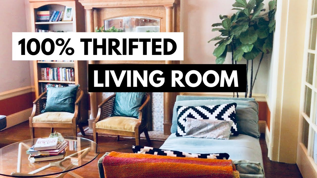 Boho Living Room Tour 100 Thrifted Second Hand Furniture And
