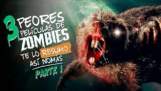 Las 3 Peores Películas de Zombies | #TeLoResumo