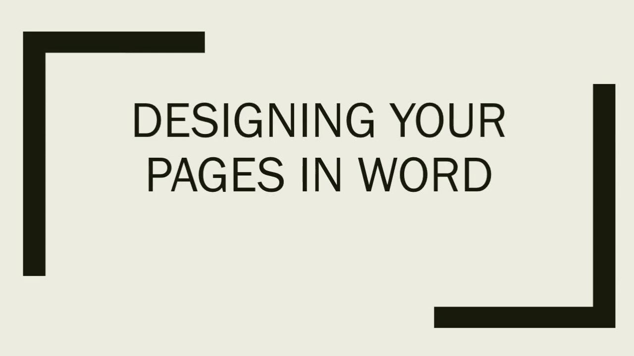 page design in word page design in word