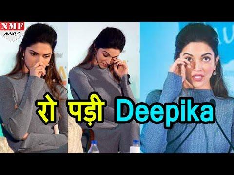 Deprssion पर बात करते हुए रो पड़ी Deepika Padukone,कहा घुटन महसूस करती हूं