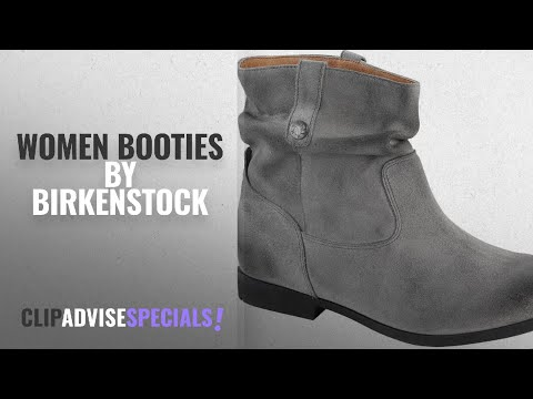 Top 10 Birkenstock Women Booties [2018]: Birkenstock Women's Sarnia Boot Gray Waxed Suede 42 R