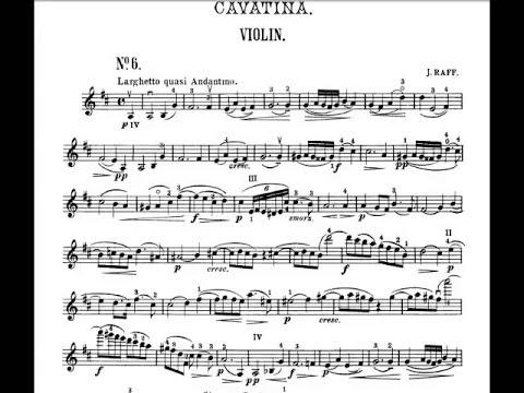 Joachim Raff  Cavatina Op 85 N 3 Violin and Piano accompaniment
