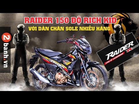 Raider 150 độ Rich Kid với dàn chân sole nhiều hãng   2banh Review