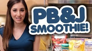 Peanut Butter & Jam Smoothie Recipe - Healthy & Delicious!