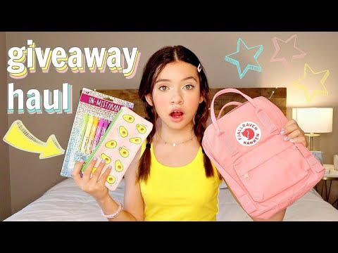 Back to School Supplies Haul   GIVEAWAY