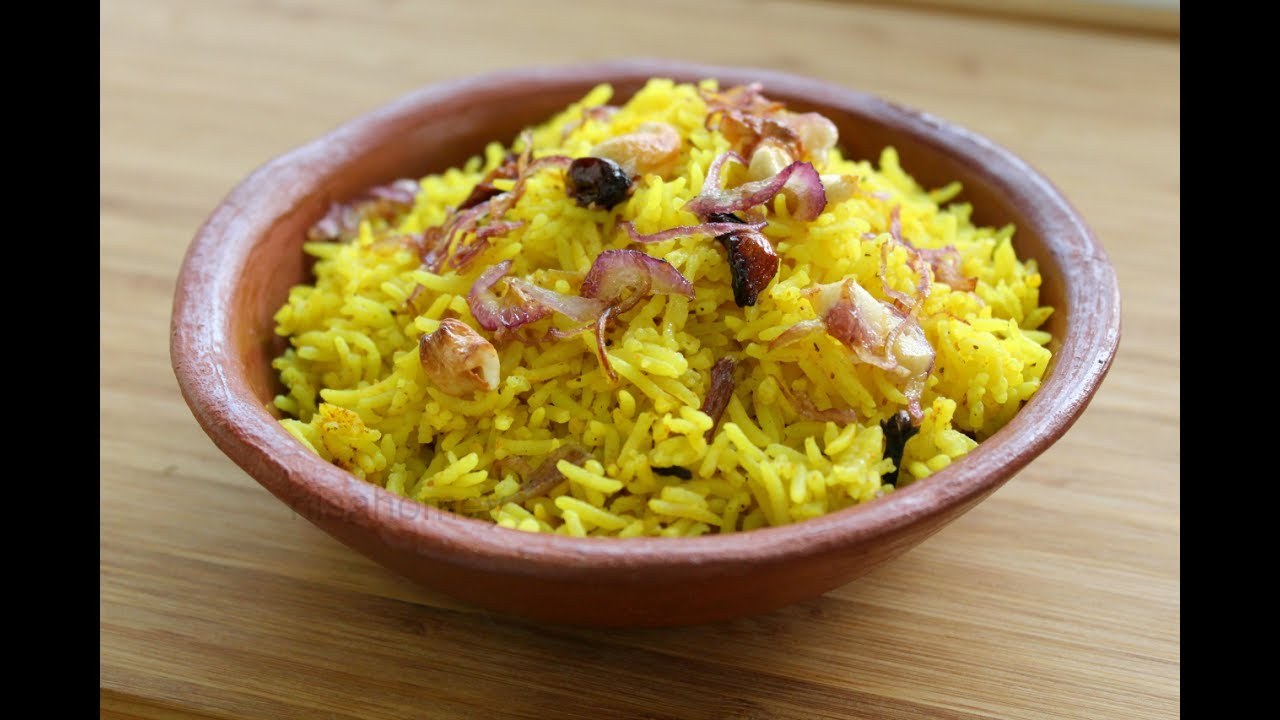 Turmeric Rice Recipe - How To Make Flavoured Rice With