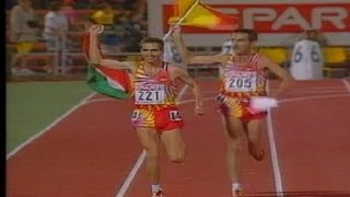 Manuel Pancorbo, plata en el Campeonato de Europa de Atletismo Budapest 1998